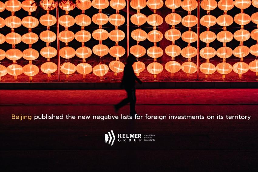 Beijing published the new negative lists for foreign investments on its territory